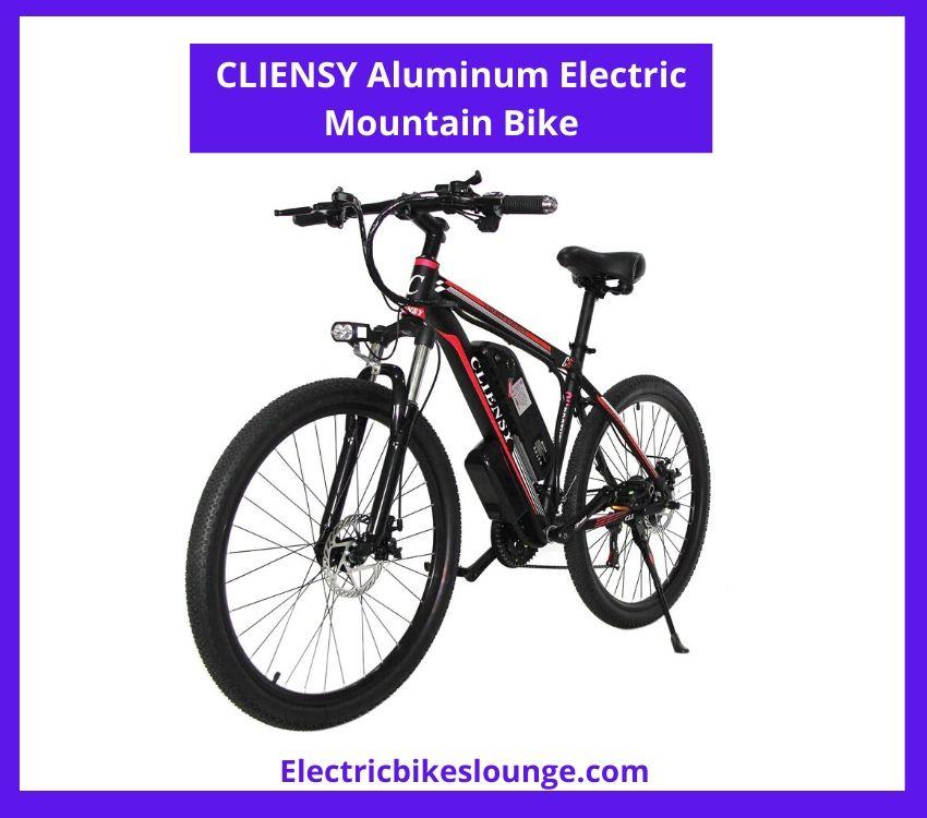 Cliensy Aluminum Electric Mountain Bike