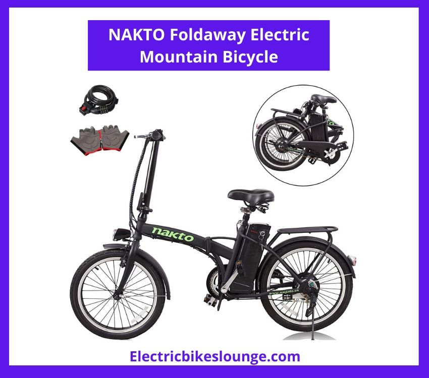 NAKTO Foldaway Electric Mountain Bicycle