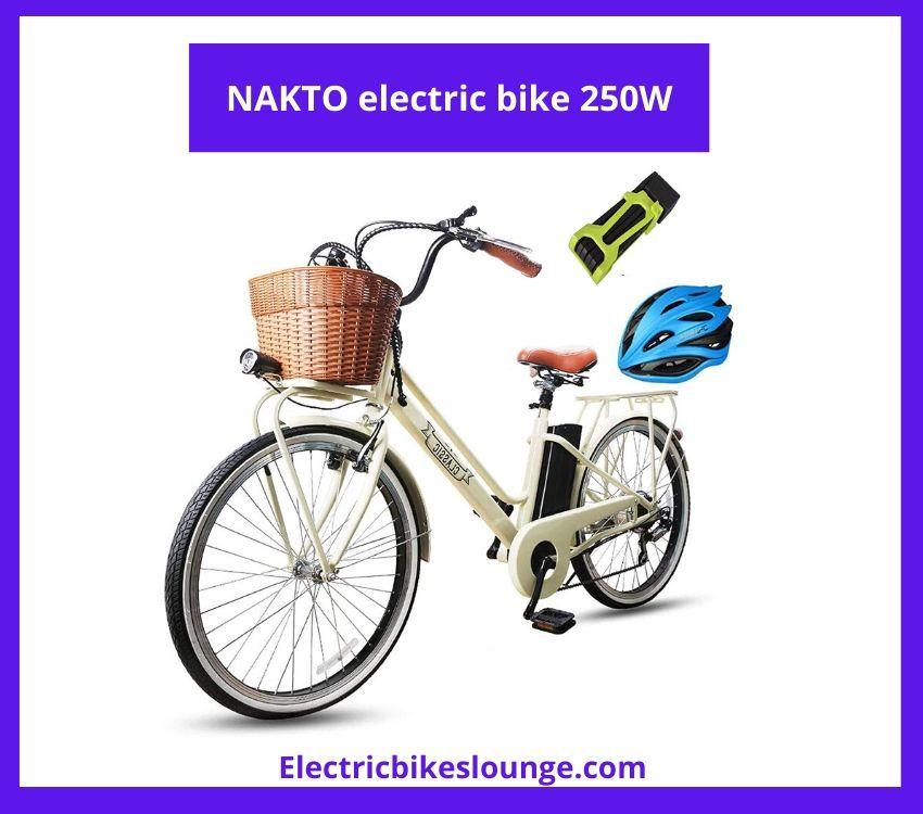 NAKTO electric bike 250W brushless motor