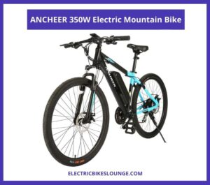 Best Electric Mountain Bike under 1000 ANCHEER 350W