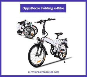 OppsDecor Folding eBike