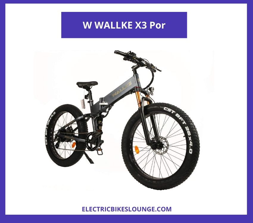best electric folding bike W WALLKE X3 Por