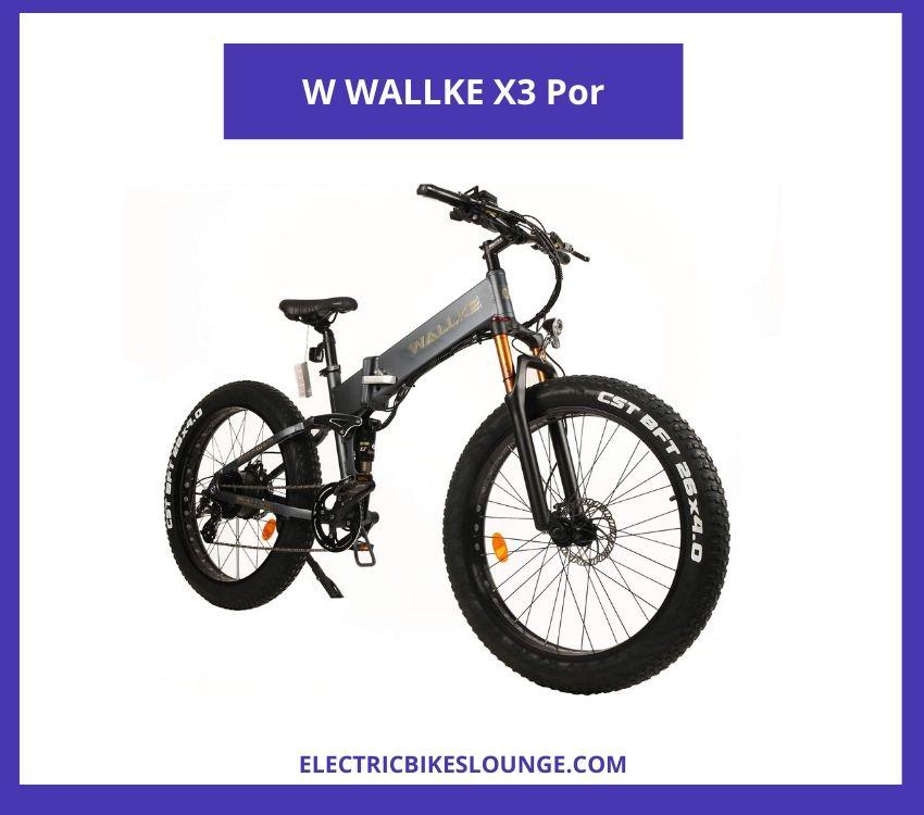 best electric folding bike W WALLKE X3 Por