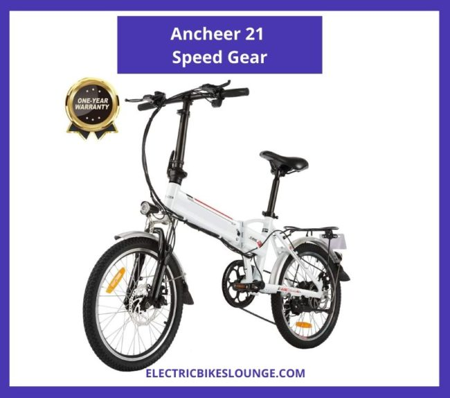 best full suspension electric mountain bike ancheer 21 speed gear