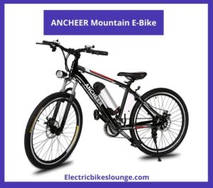 e bike under 500 ANCHEER Mountain E-Bike