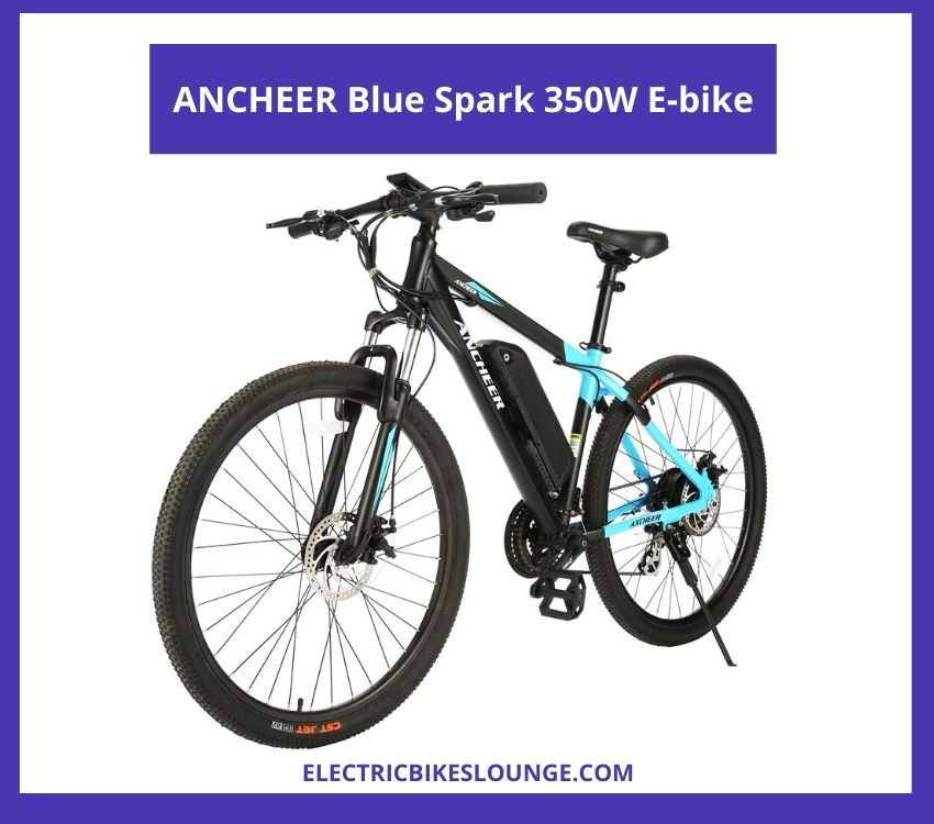 electric commuter bike ANCHEER Blue Spark