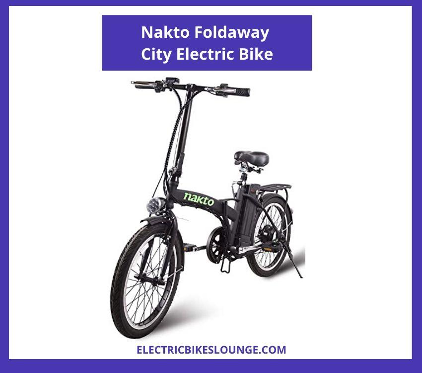 electric folding bicycle Nakto
