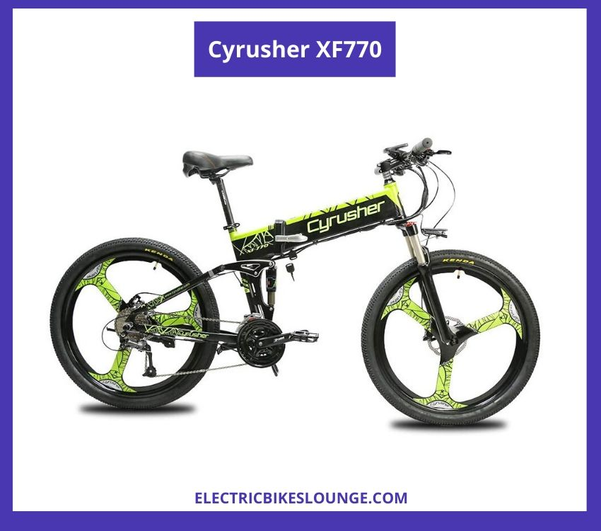 portable electric bike Cyrusher XF770